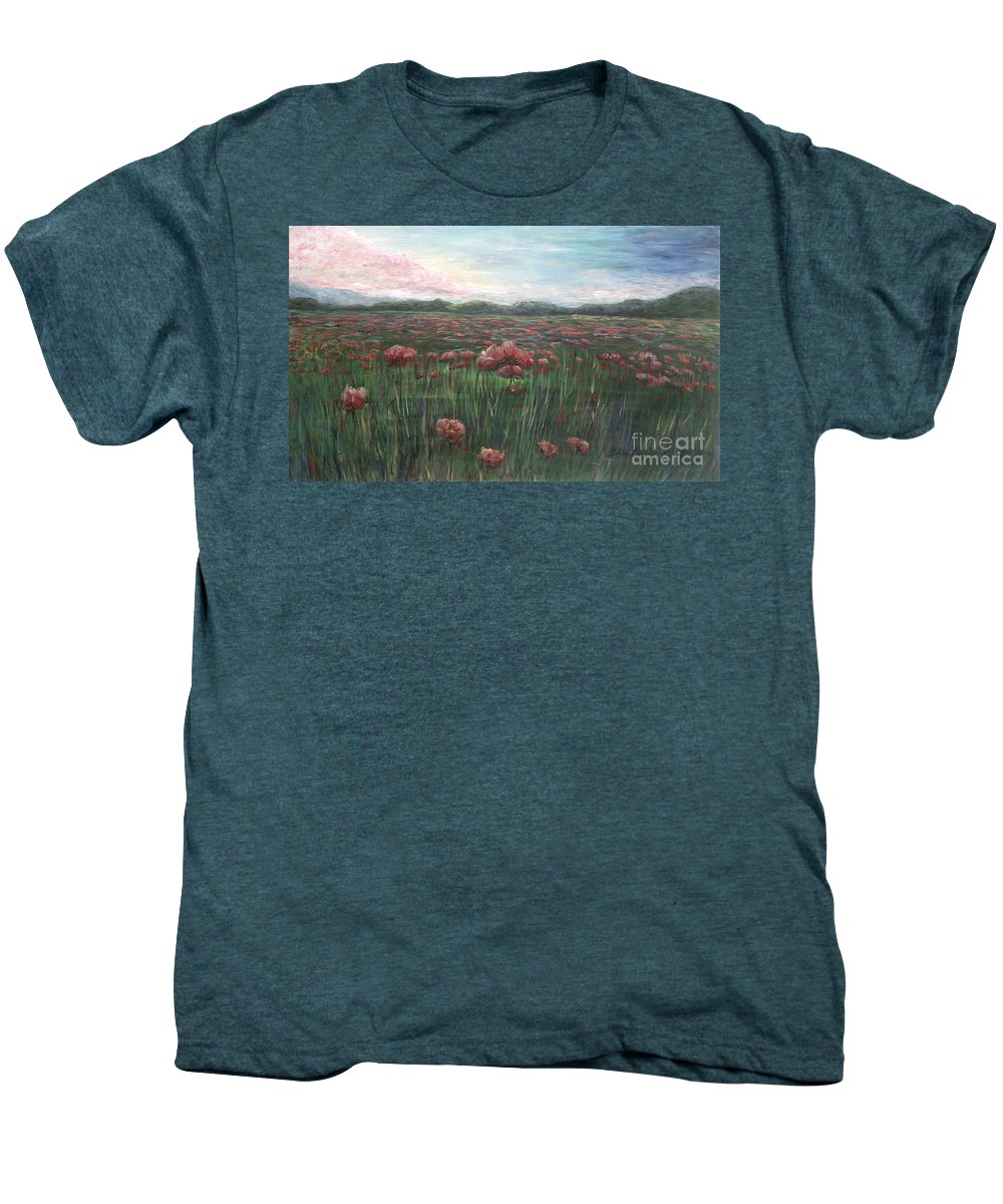 France Men's Premium T-Shirt featuring the painting French Poppies by Nadine Rippelmeyer