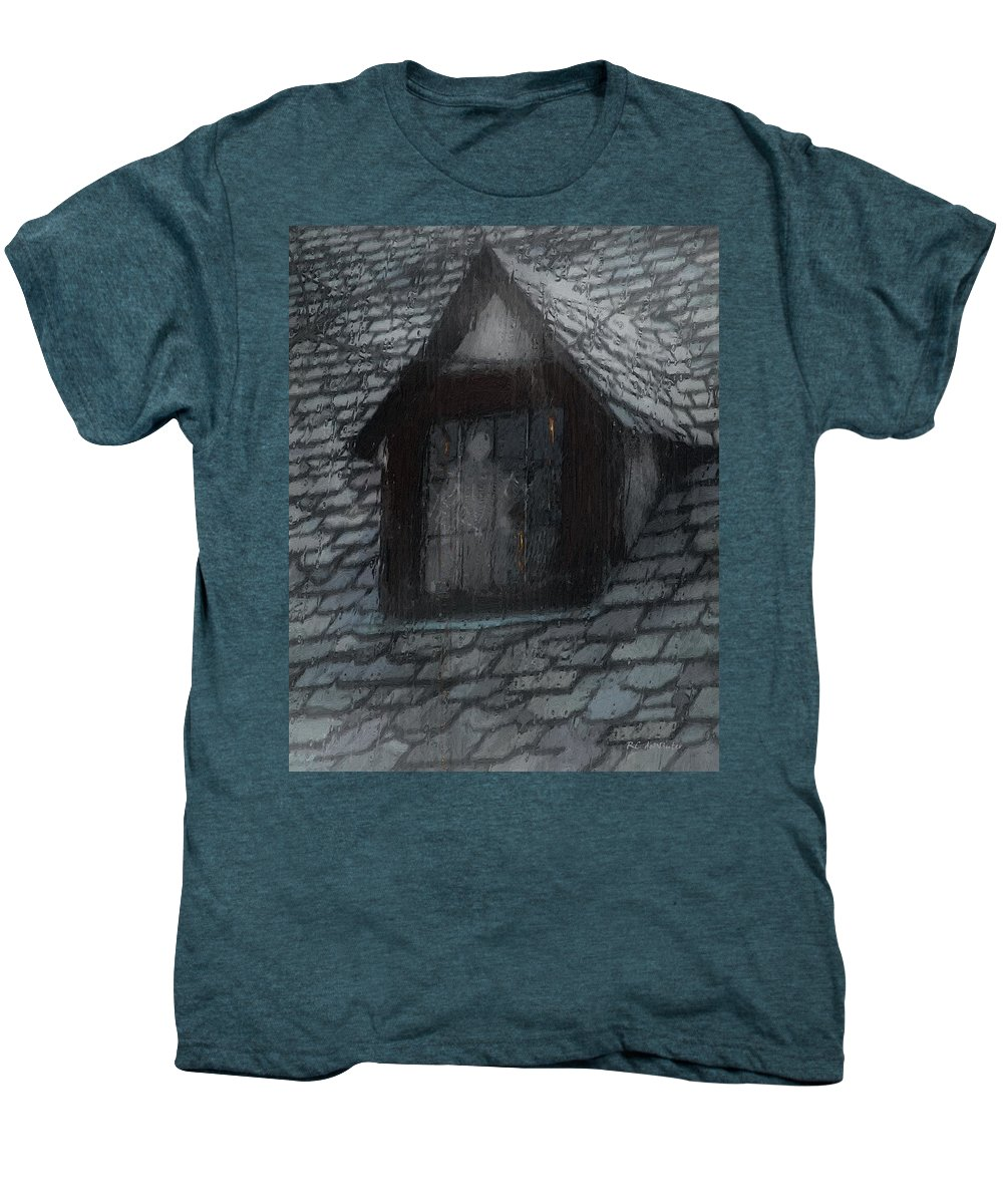Ghost Men's Premium T-Shirt featuring the painting Ghost Rain by RC deWinter
