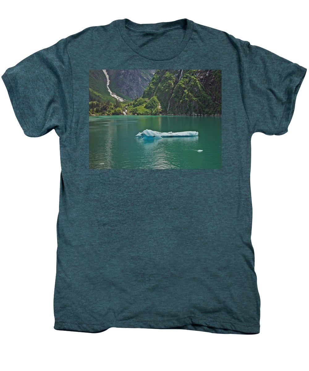 Iceburg Men's Premium T-Shirt featuring the photograph Ice Tracy Arm Alaska by Heather Coen