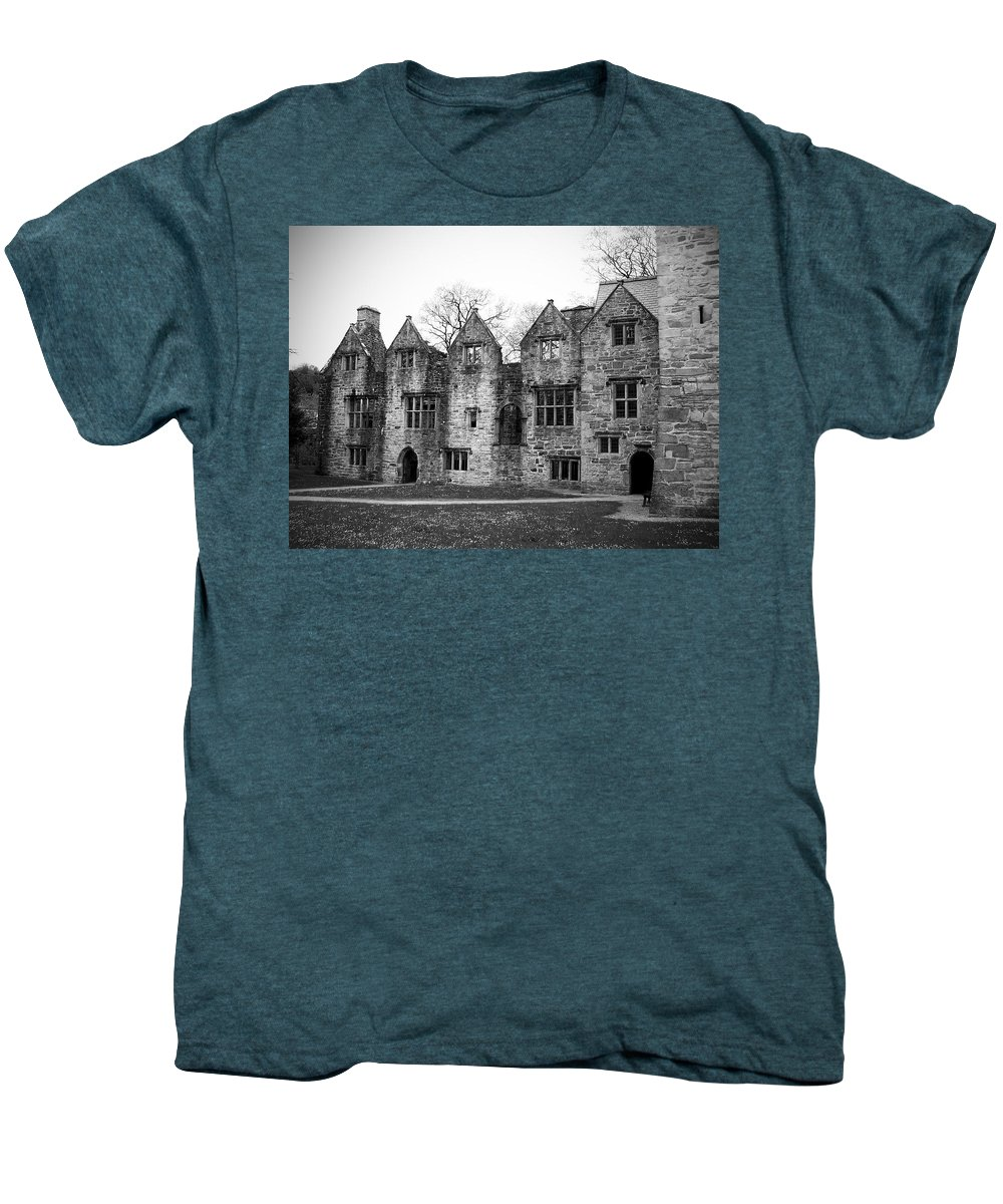 Irish Men's Premium T-Shirt featuring the photograph Jacobean Wing At Donegal Castle Ireland by Teresa Mucha