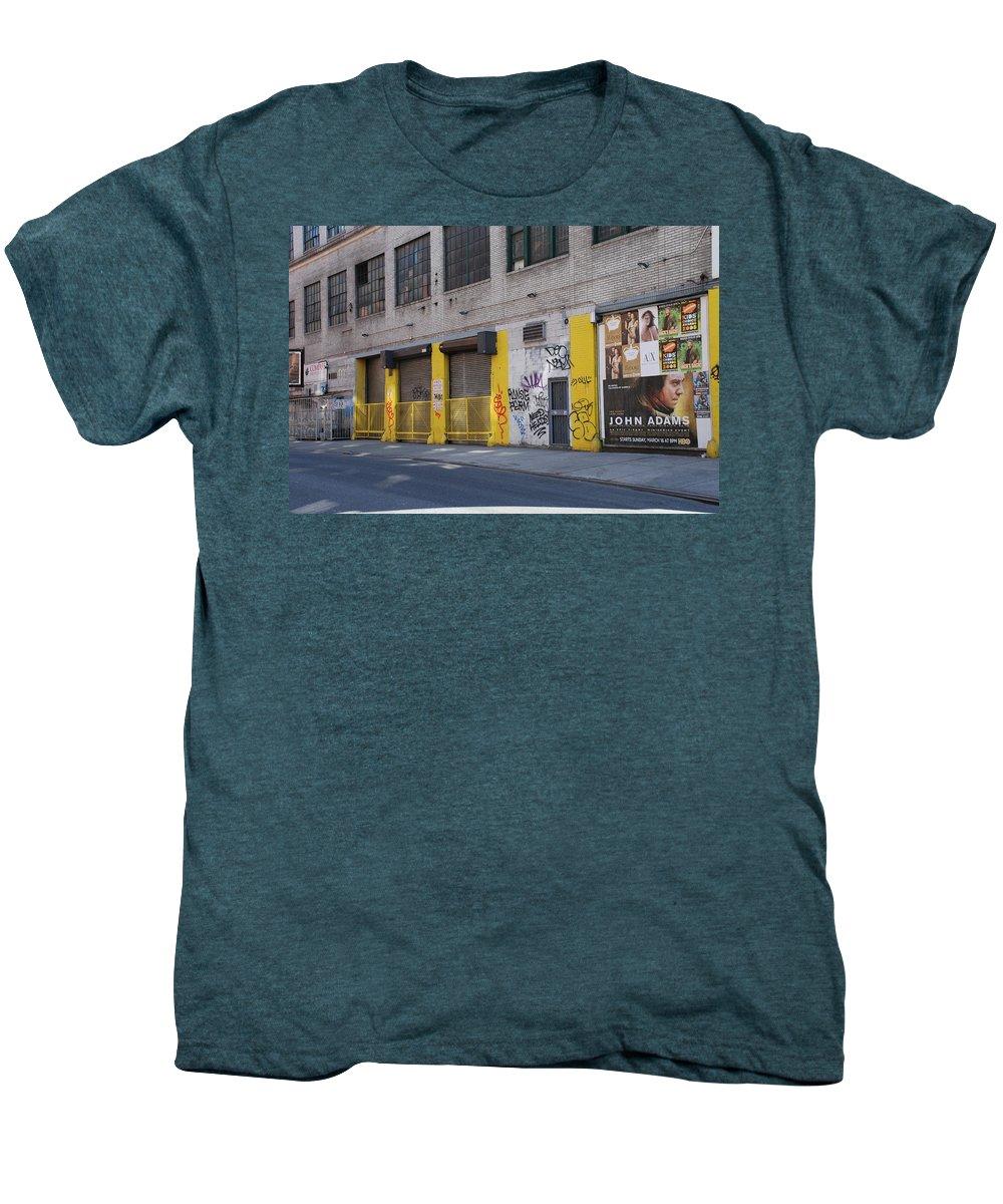 Architecture Men's Premium T-Shirt featuring the photograph John Adams by Rob Hans