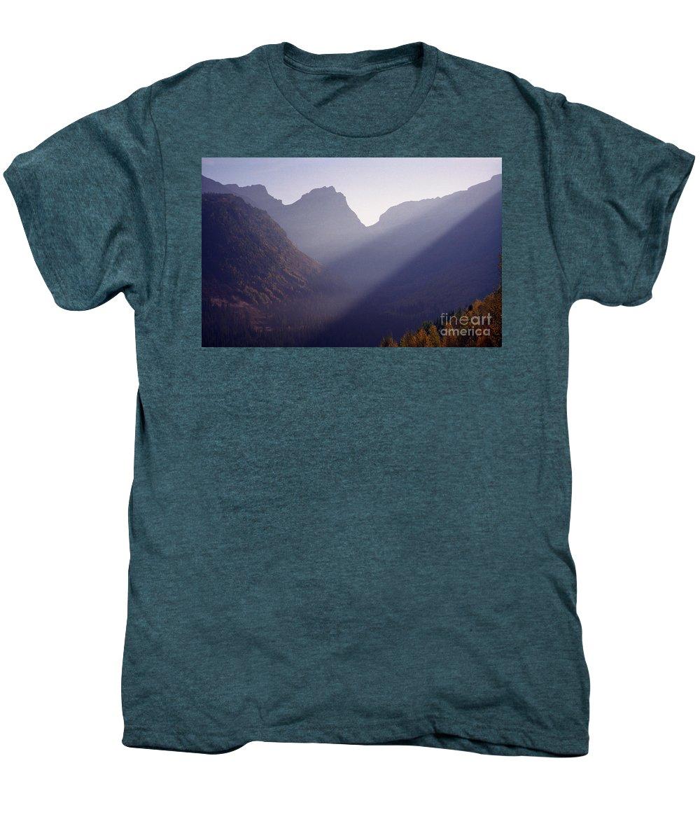 Mountains Men's Premium T-Shirt featuring the photograph Logan Pass by Richard Rizzo