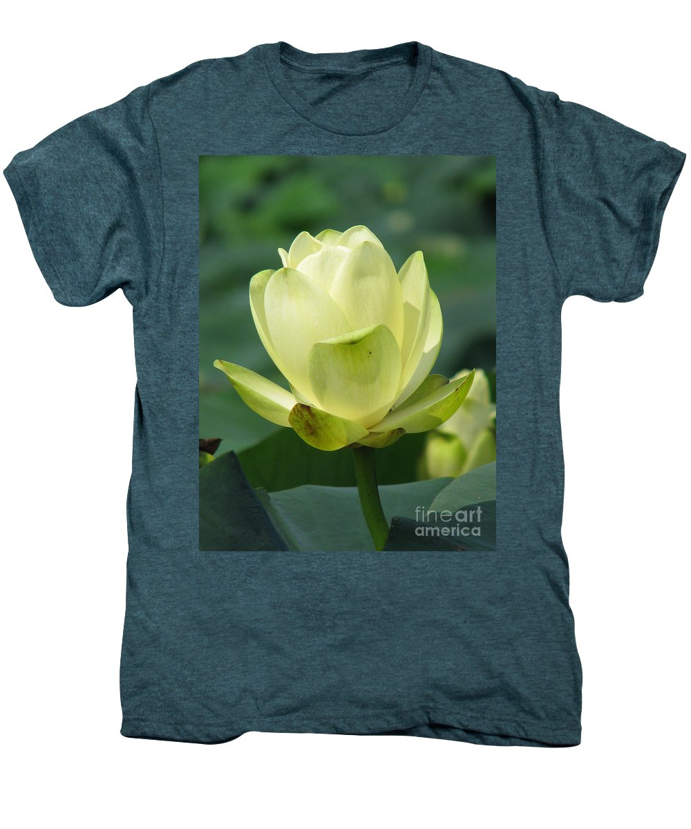Lotus Men's Premium T-Shirt featuring the photograph Lotus by Amanda Barcon