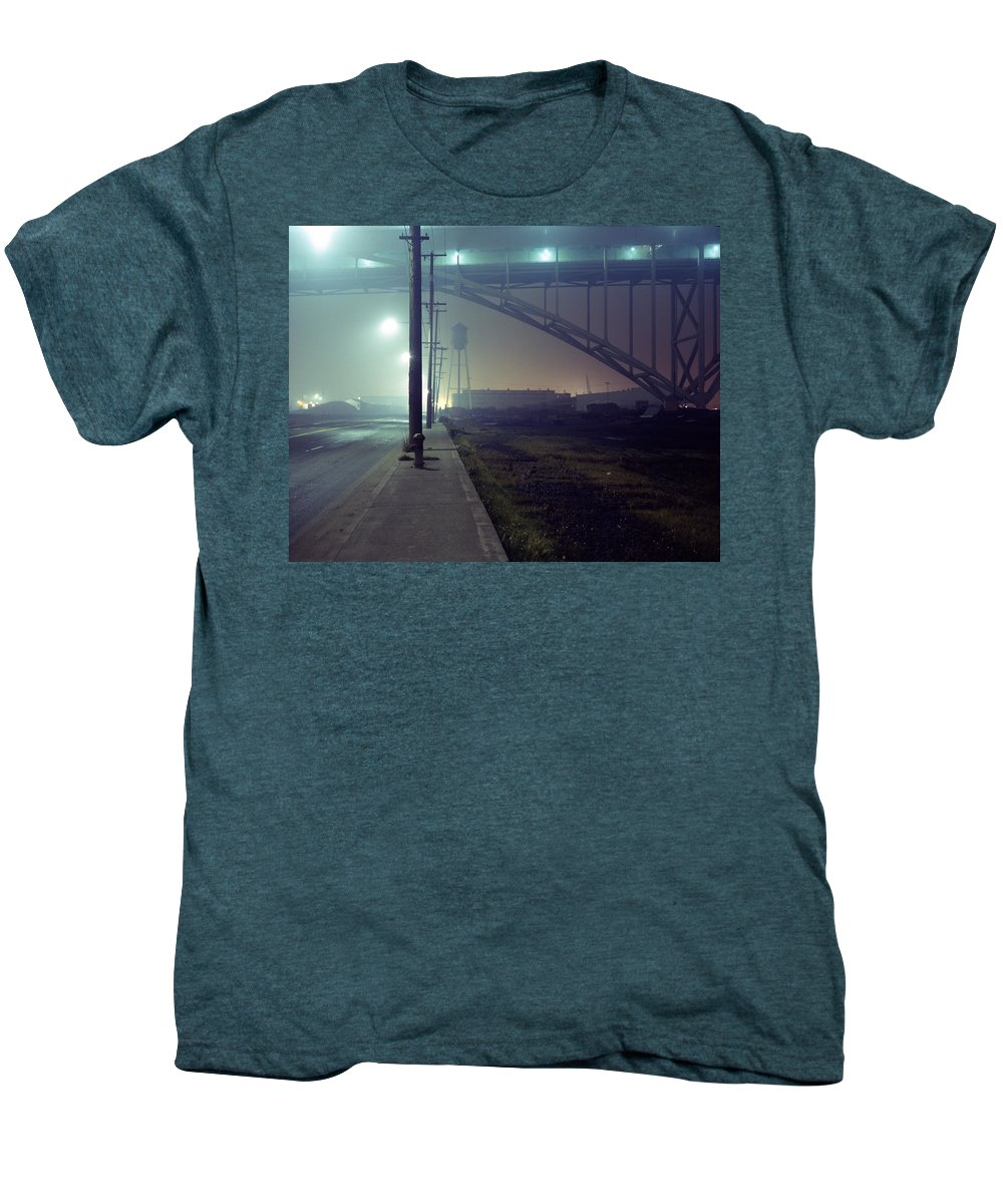 Night Photo Men's Premium T-Shirt featuring the photograph Nightscape 2 by Lee Santa