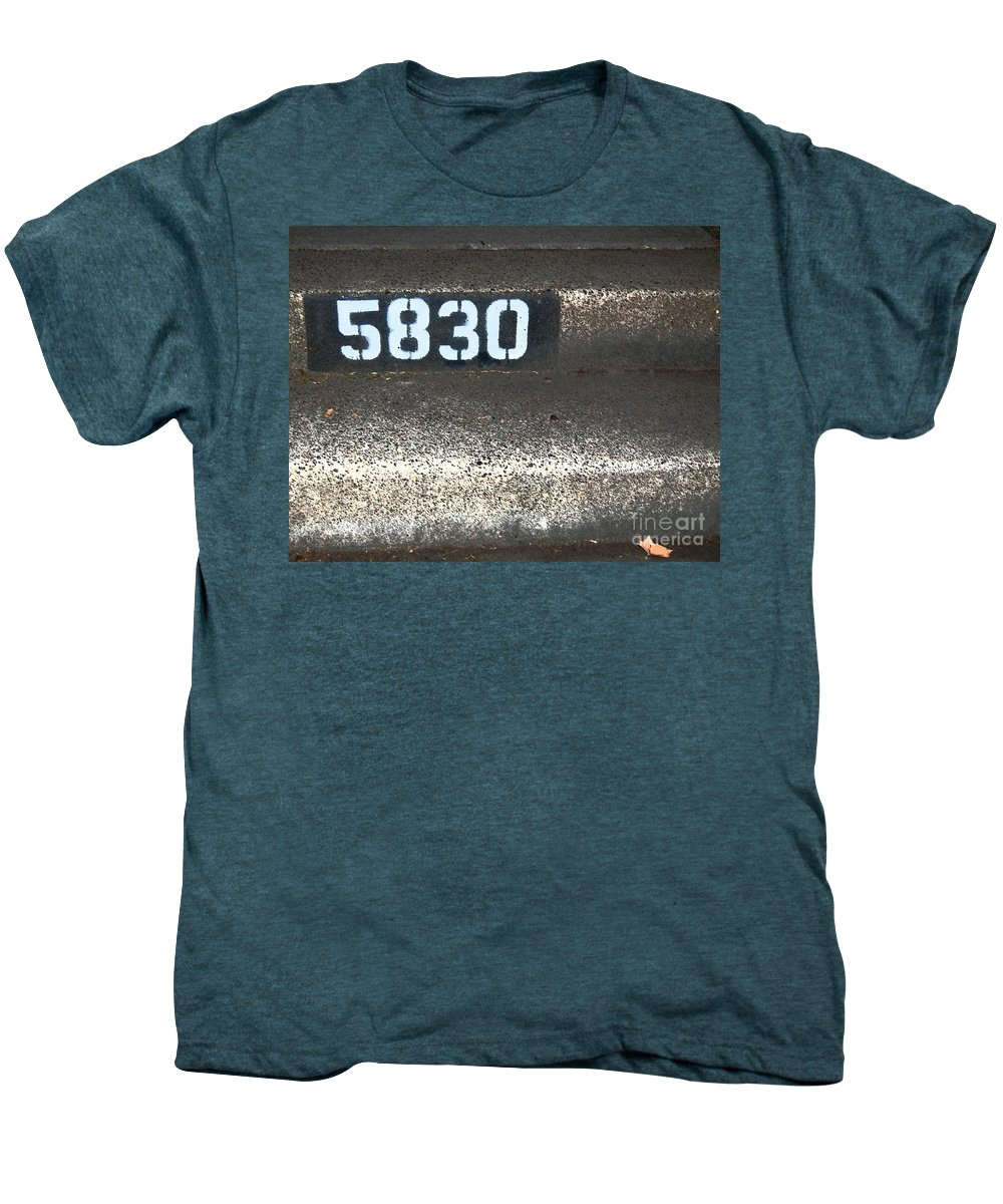 Numbers Men's Premium T-Shirt featuring the photograph Numbers by Debbi Granruth