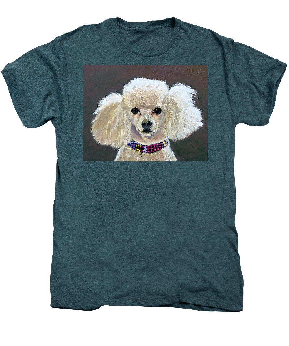 Dog Men's Premium T-Shirt featuring the painting Pebbles by Stan Hamilton
