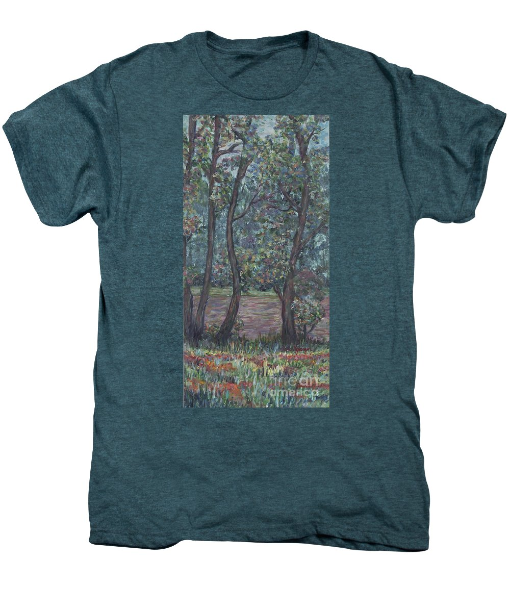 Landscape Men's Premium T-Shirt featuring the painting Provence Flowers by Nadine Rippelmeyer