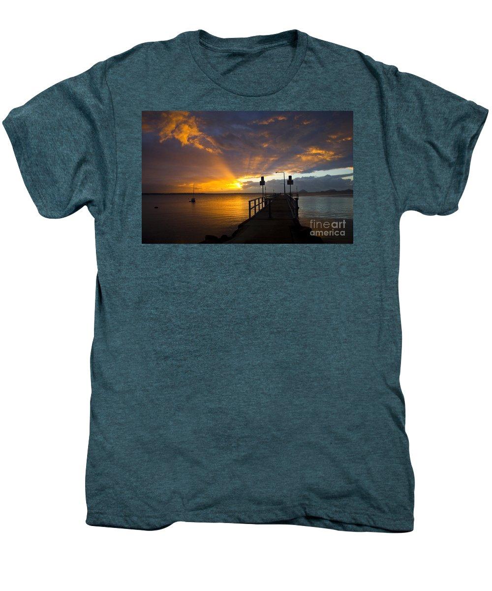 Sunrise Men's Premium T-Shirt featuring the photograph Salamander Bay Sunrise by Avalon Fine Art Photography