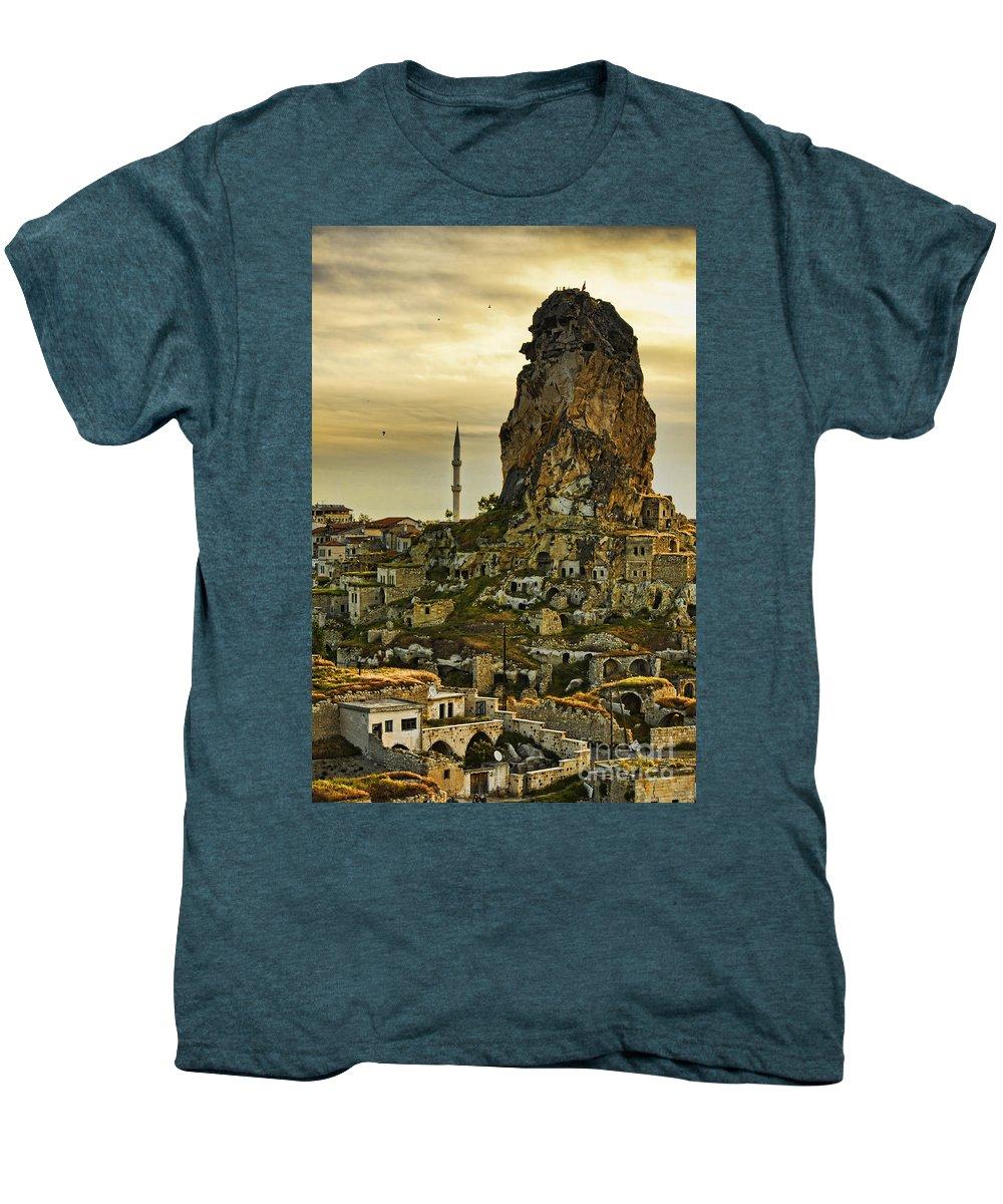 Cappadocia Men's Premium T-Shirt featuring the photograph Sandcastles by Andrew Paranavitana