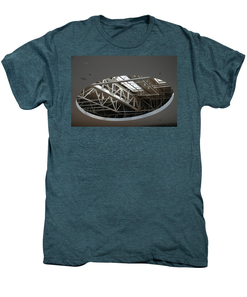 Ceiling Men's Premium T-Shirt featuring the photograph Skylight Gurders by Rob Hans