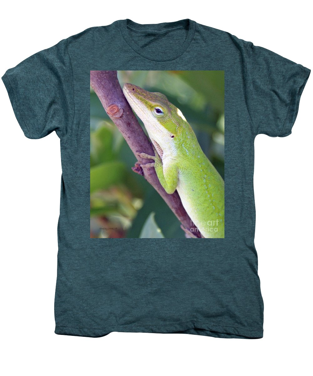 Animal Men's Premium T-Shirt featuring the photograph Smile by Shelley Jones