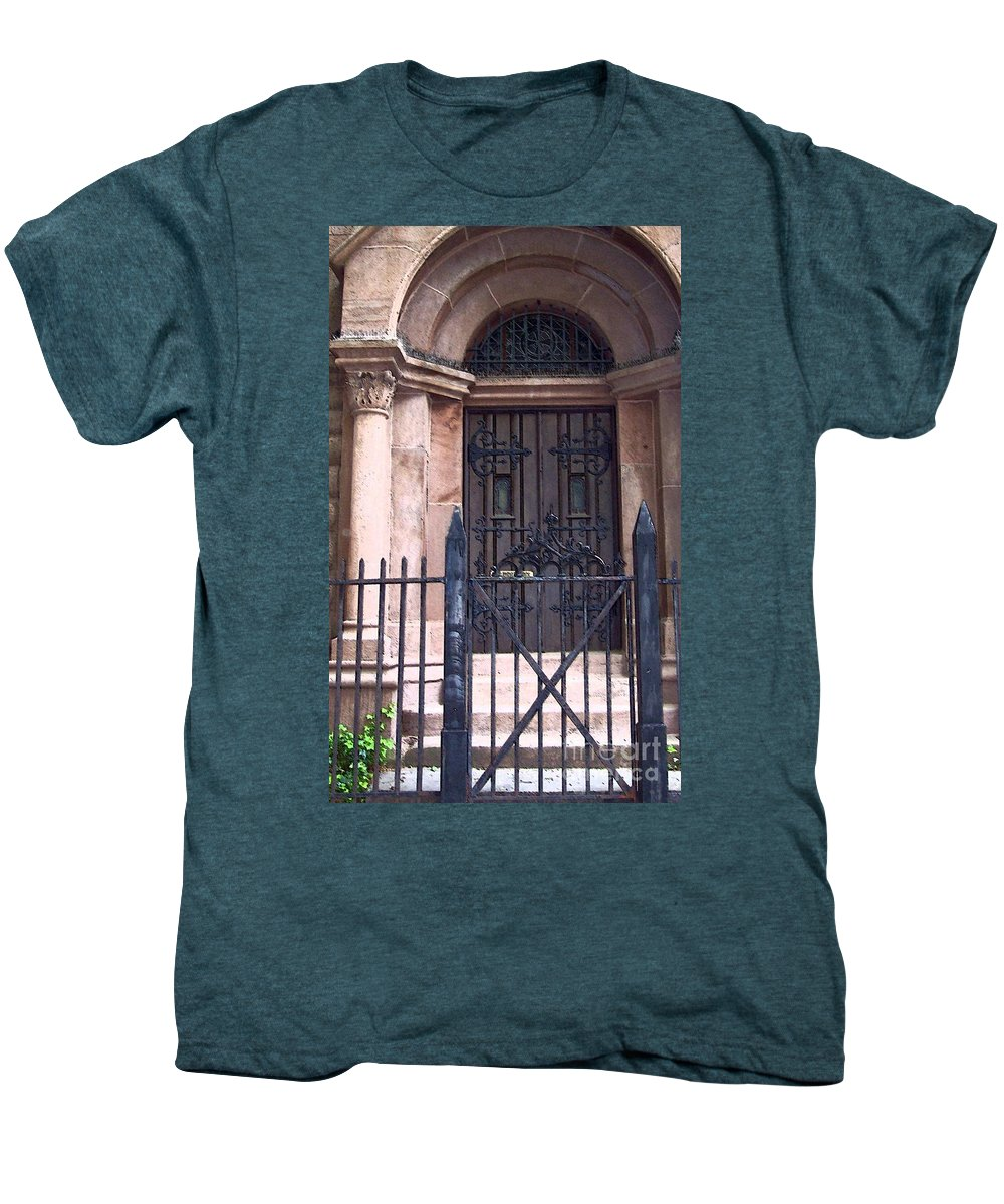 Church Men's Premium T-Shirt featuring the photograph Sunday by Debbi Granruth