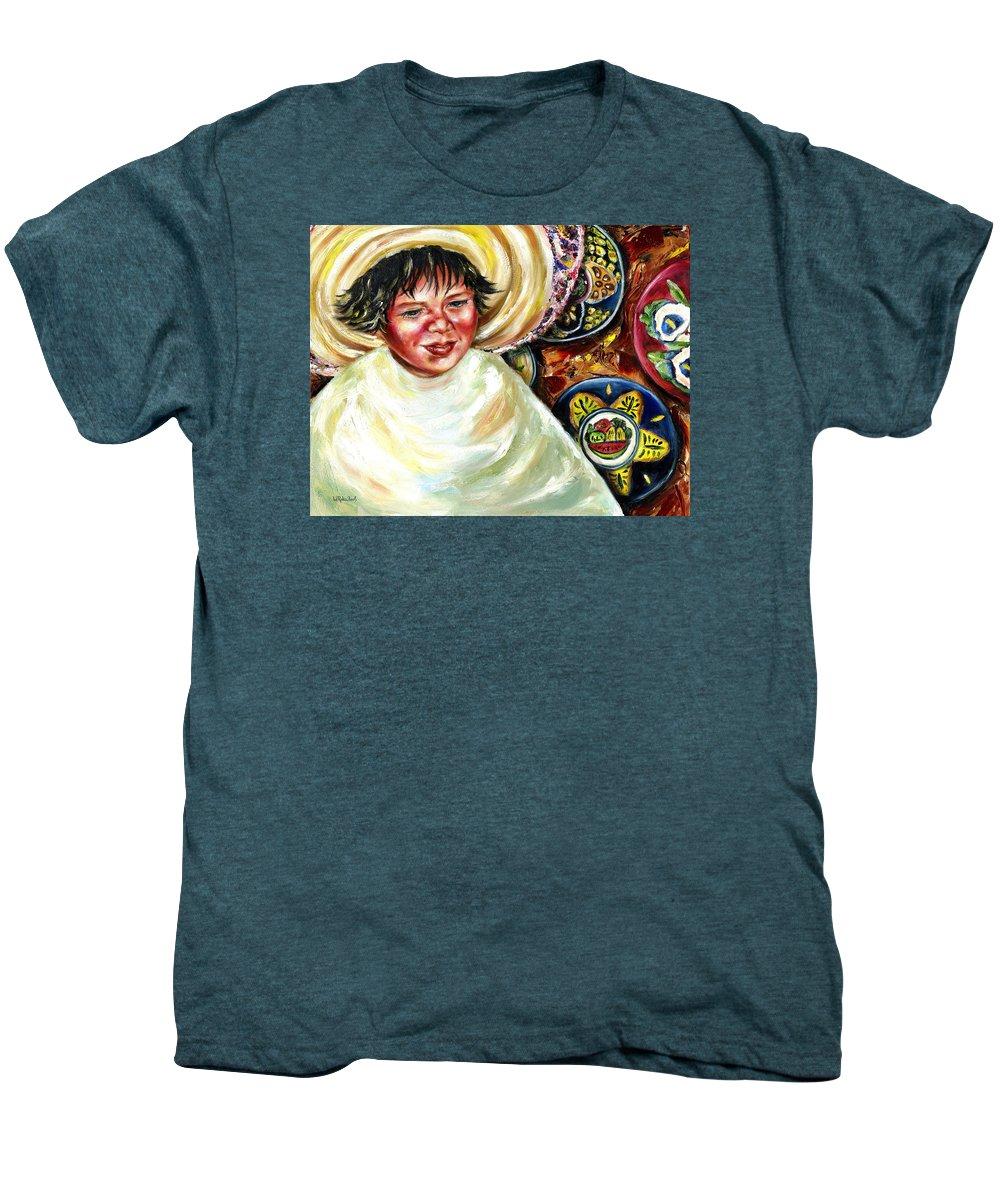 Child Men's Premium T-Shirt featuring the painting Sunny Day by Hiroko Sakai