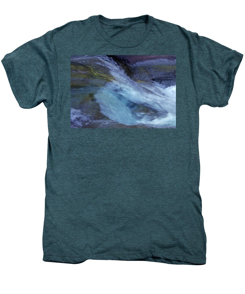 Nature Men's Premium T-Shirt featuring the photograph Tropical Flowing Waters by Kerryn Madsen- Pietsch