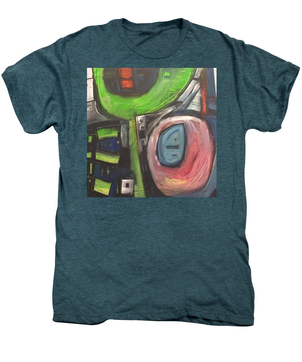 Abstract Men's Premium T-Shirt featuring the painting YO by Tim Nyberg