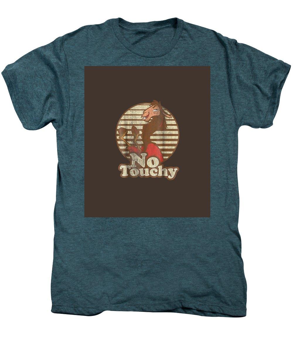 women's Shops Men's Premium T-Shirt featuring the digital art Disney Emperor's New Groove Kuzco Llama No Touchy T-shirt by Unique Tees