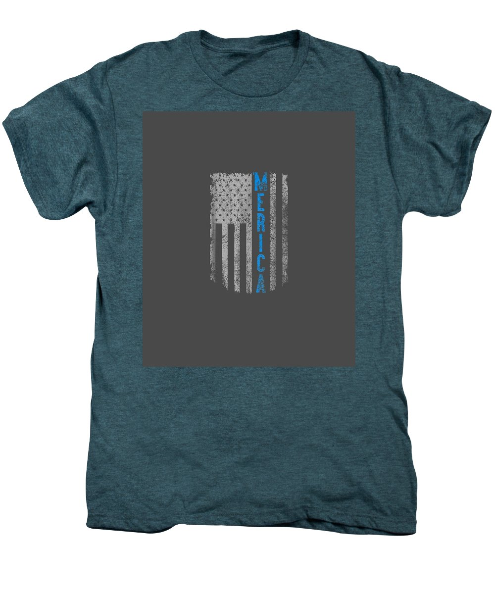 girls' Novelty Clothing Men's Premium T-Shirt featuring the digital art 'merica American Flag Vintage Men Women Gift 2018 T-shirt by Unique Tees