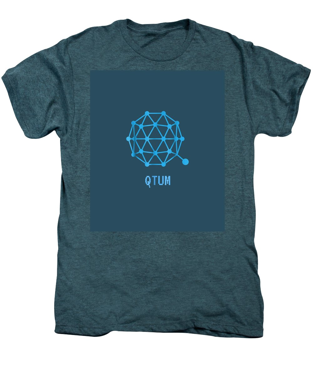 men's Novelty T-shirts Men's Premium T-Shirt featuring the digital art Qtum Cryptocurrency Crypto Tee Shirt by Unique Tees
