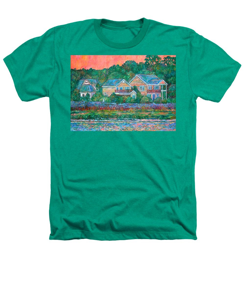 Landscape Heathers T-Shirt featuring the painting Across The Marsh At Pawleys Island    by Kendall Kessler
