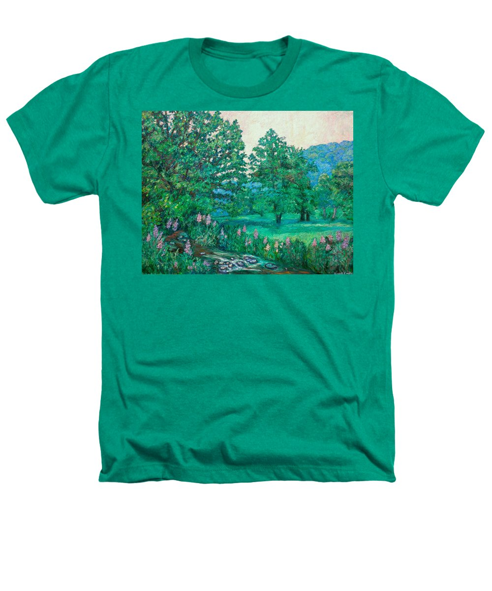 Landscape Heathers T-Shirt featuring the painting Park Road In Radford by Kendall Kessler