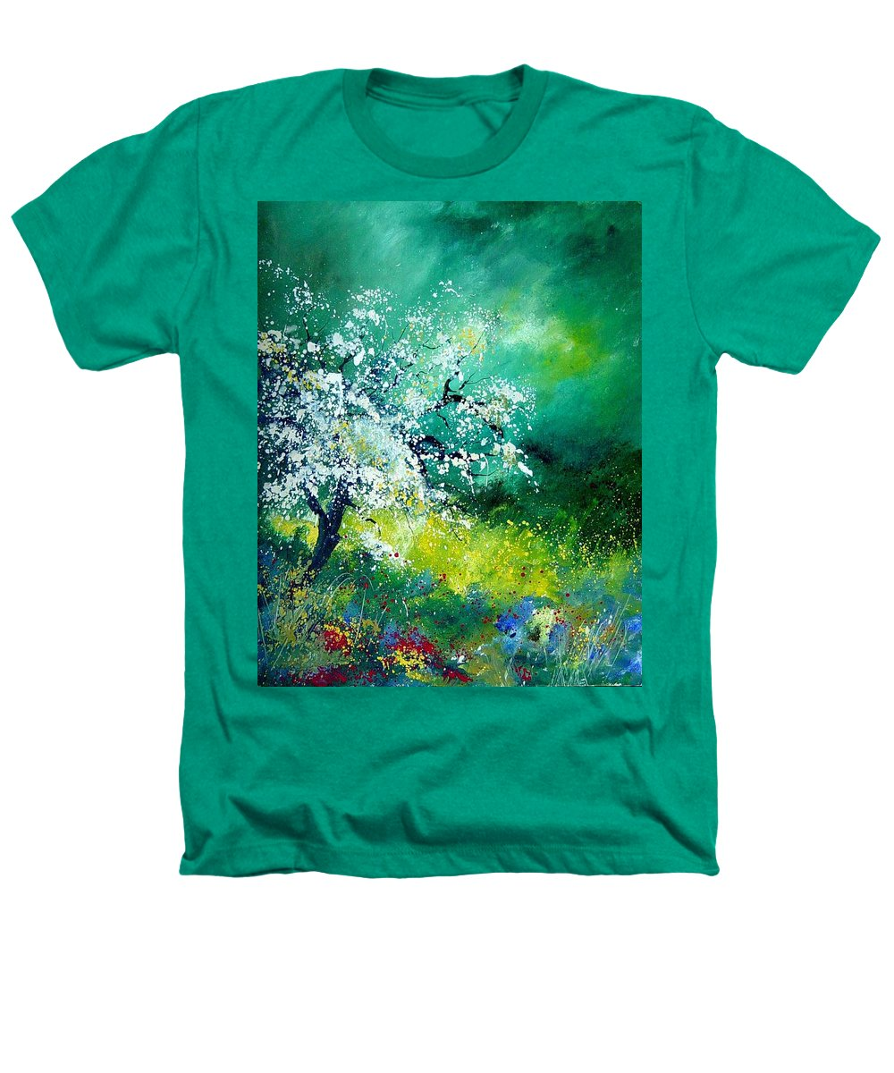 Flowers Heathers T-Shirt featuring the painting Spring by Pol Ledent