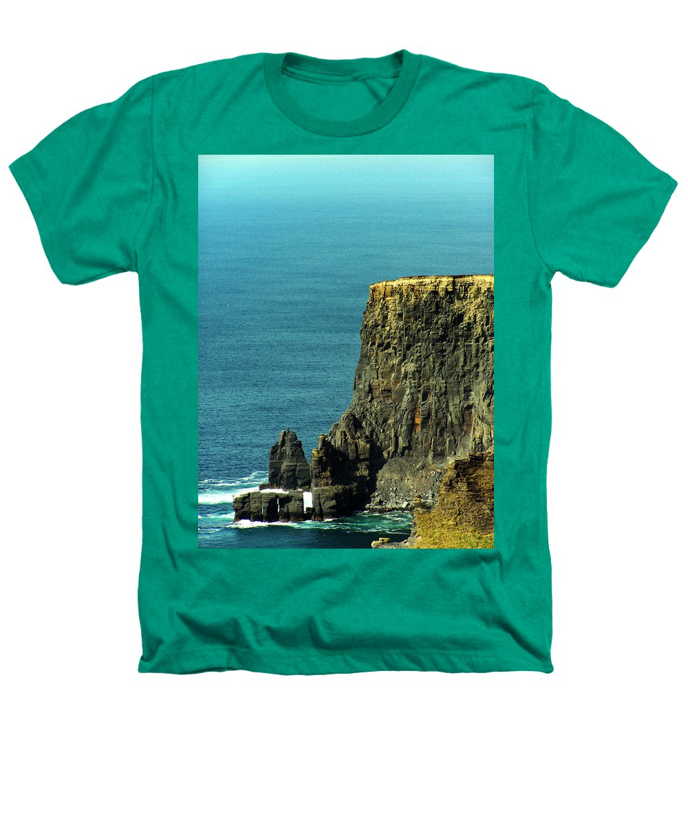 Irish Heathers T-Shirt featuring the photograph Aill Na Searrach Cliffs Of Moher Ireland by Teresa Mucha
