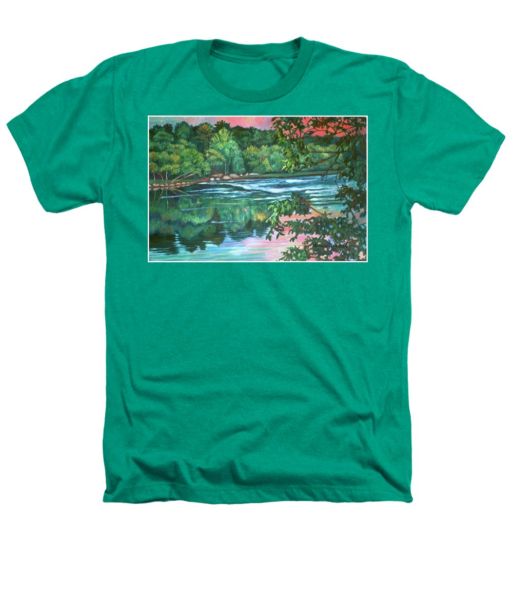River Heathers T-Shirt featuring the painting Bisset Park Rapids by Kendall Kessler