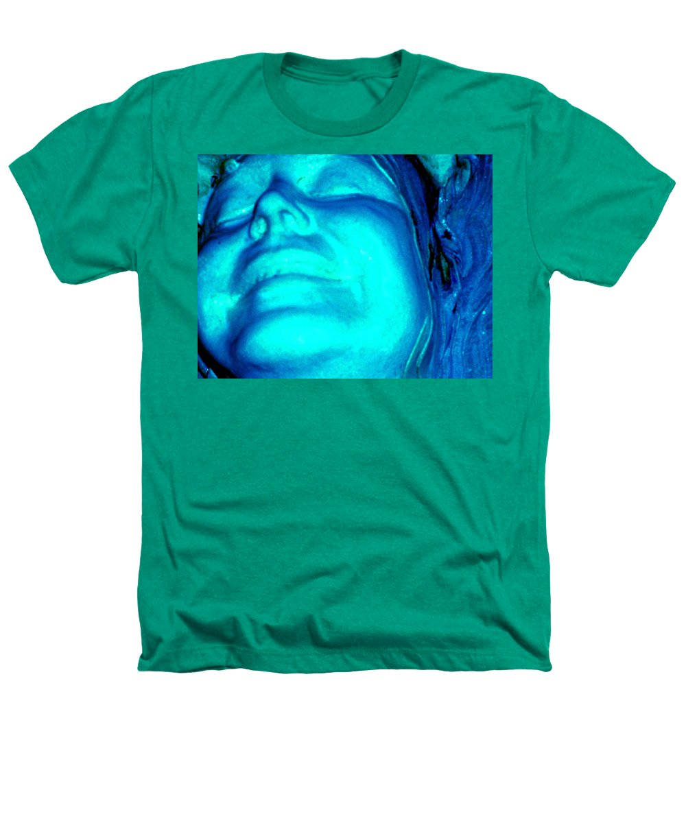 Blue Heathers T-Shirt featuring the photograph Blue Goddess by Wayne Potrafka