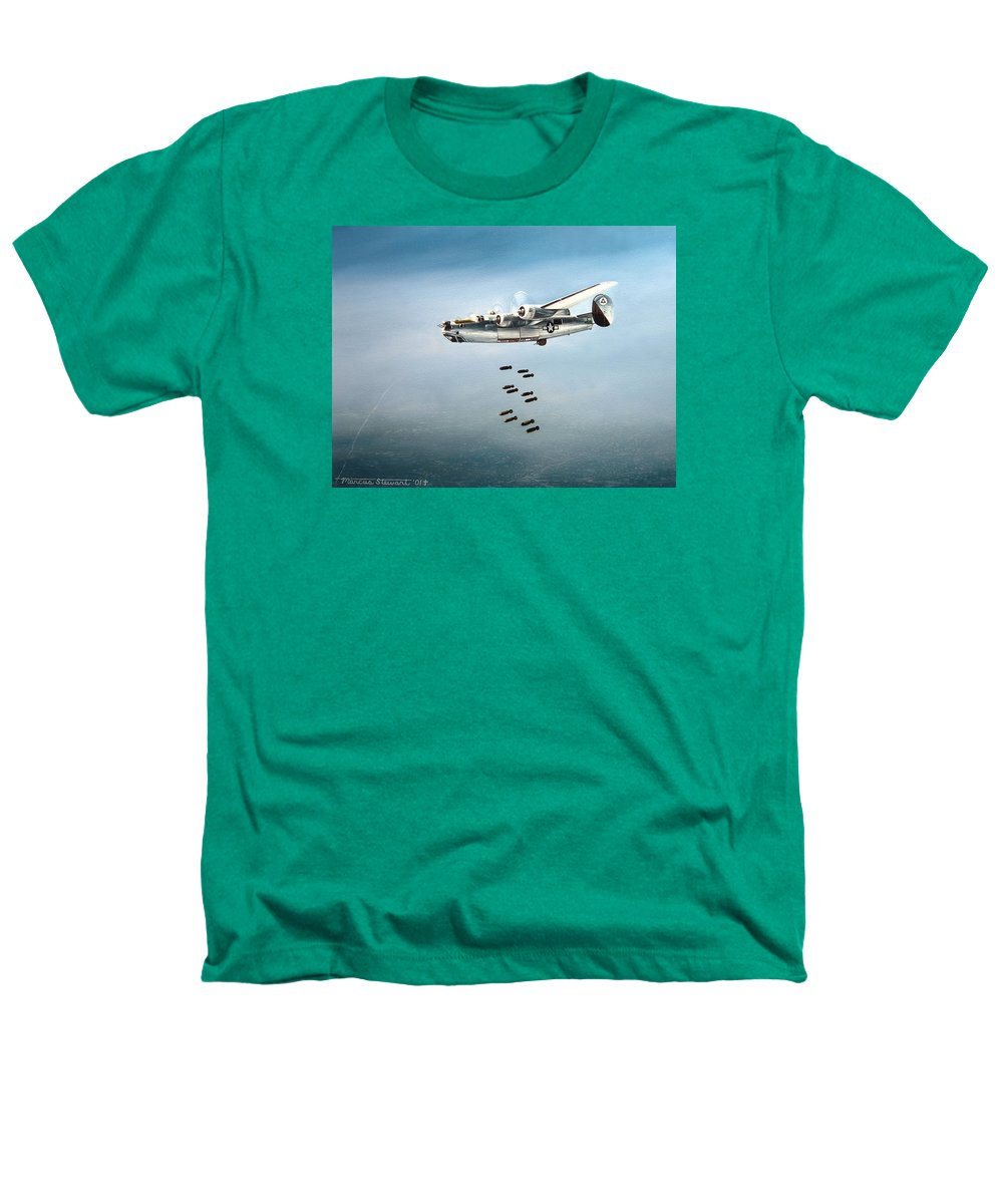 Aviation Heathers T-Shirt featuring the painting Bombs Away by Marc Stewart