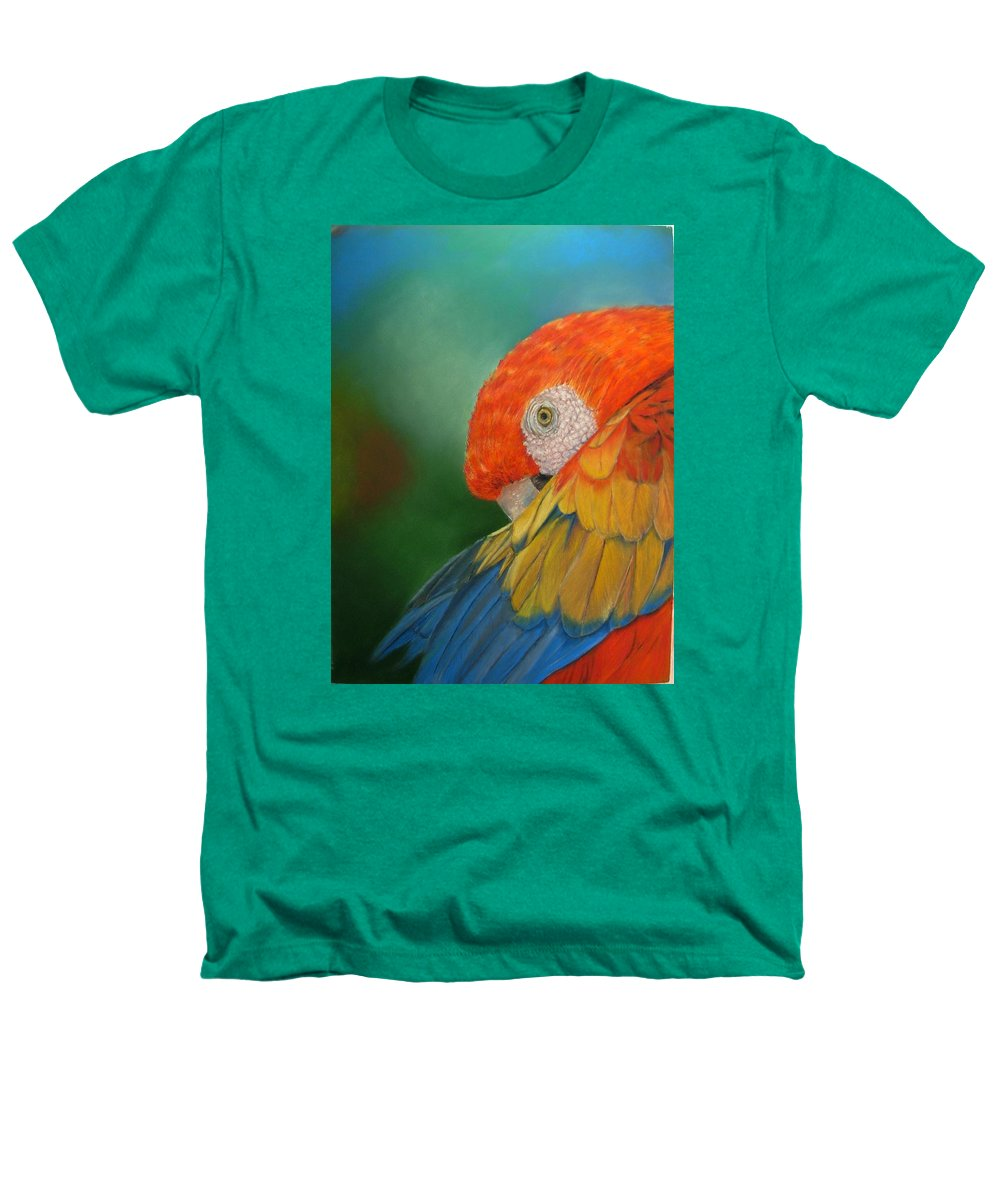 Bird Heathers T-Shirt featuring the painting Escondida by Ceci Watson