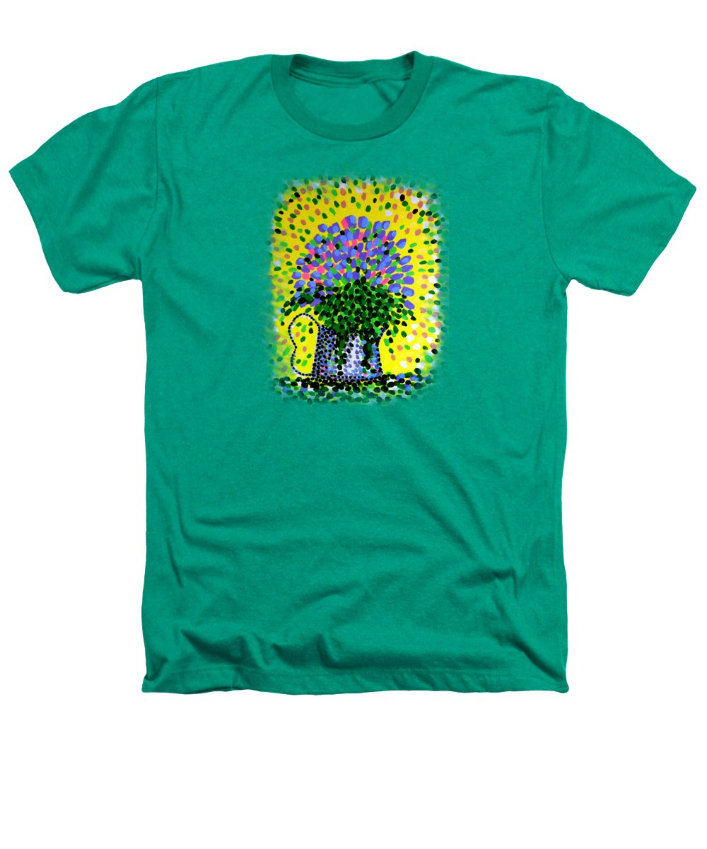 Flowers Heathers T-Shirt featuring the painting Explosive Flowers by Alan Hogan