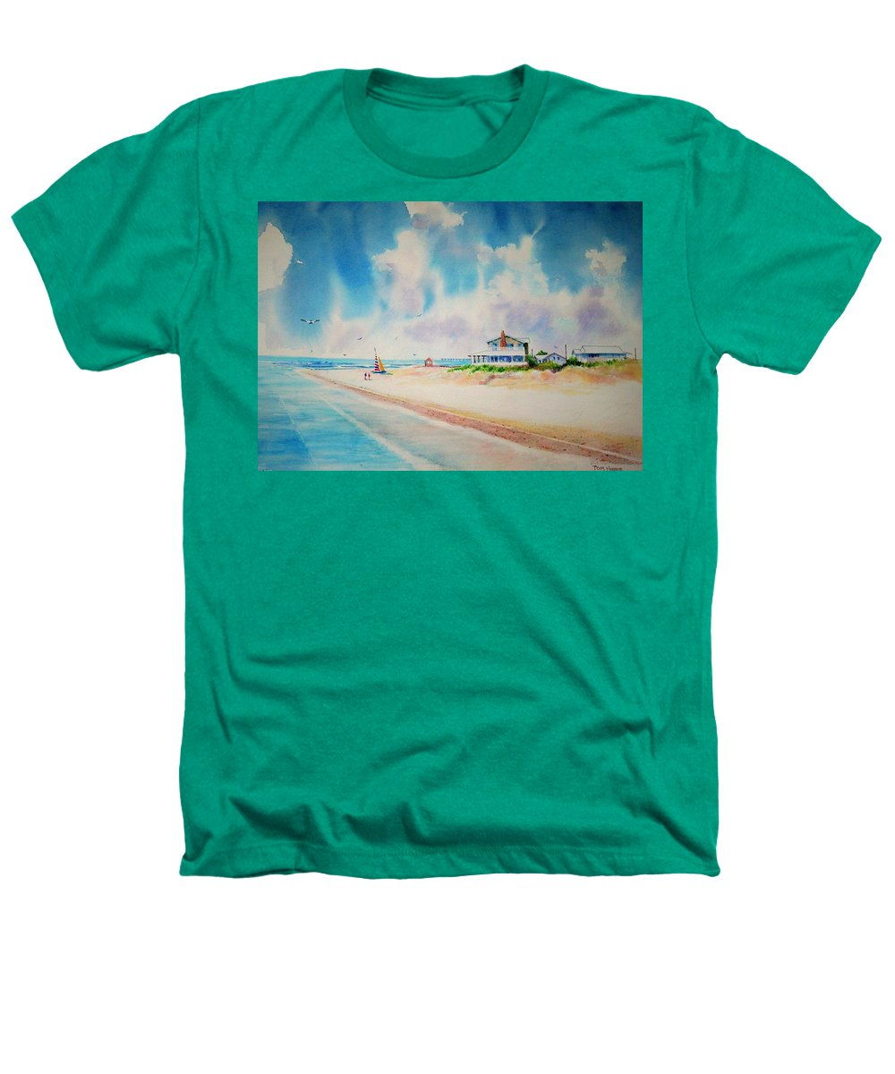 Beach Heathers T-Shirt featuring the painting First Day Of Vacation Is Pricless by Tom Harris