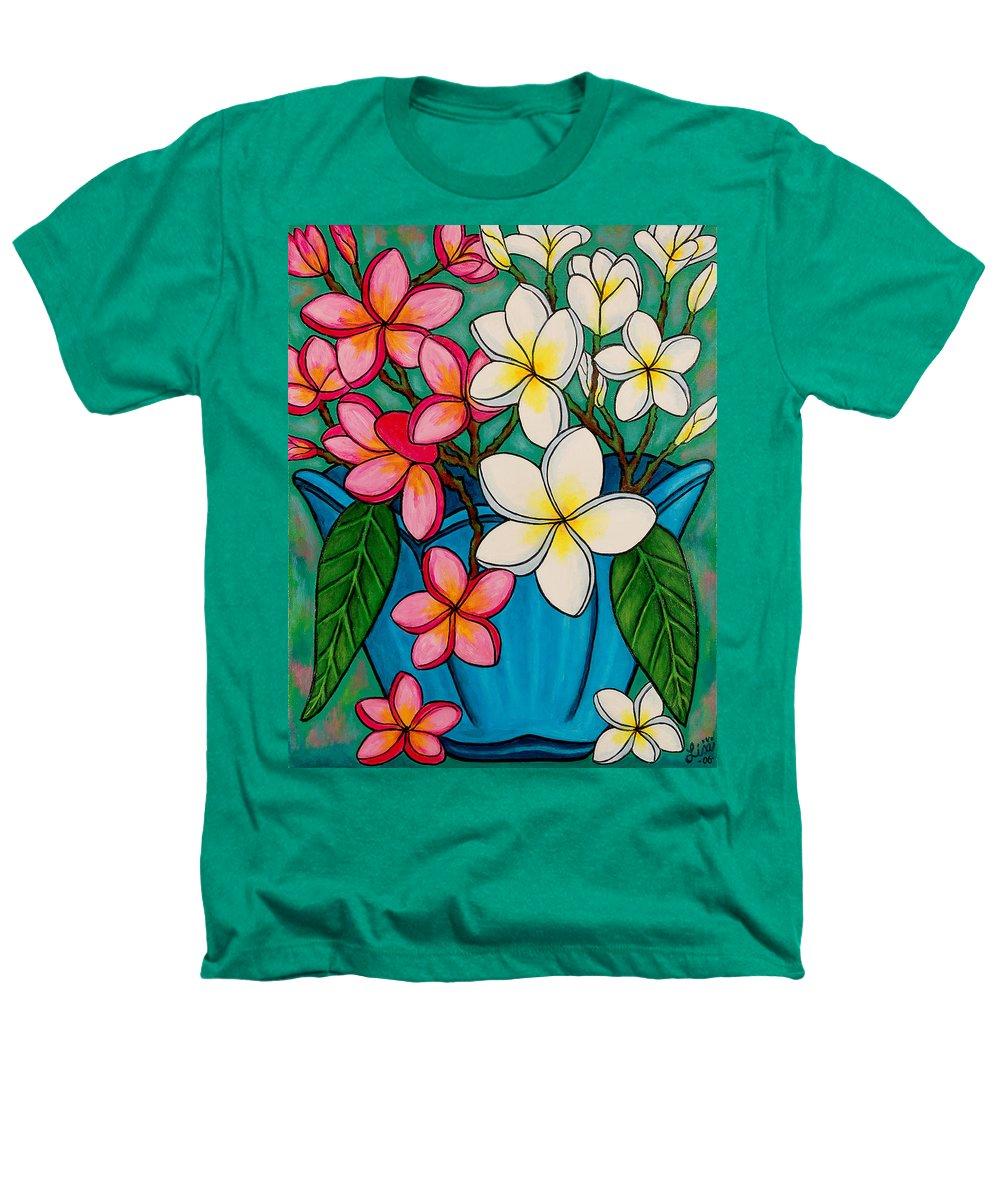 Frangipani Heathers T-Shirt featuring the painting Frangipani Sawadee by Lisa Lorenz