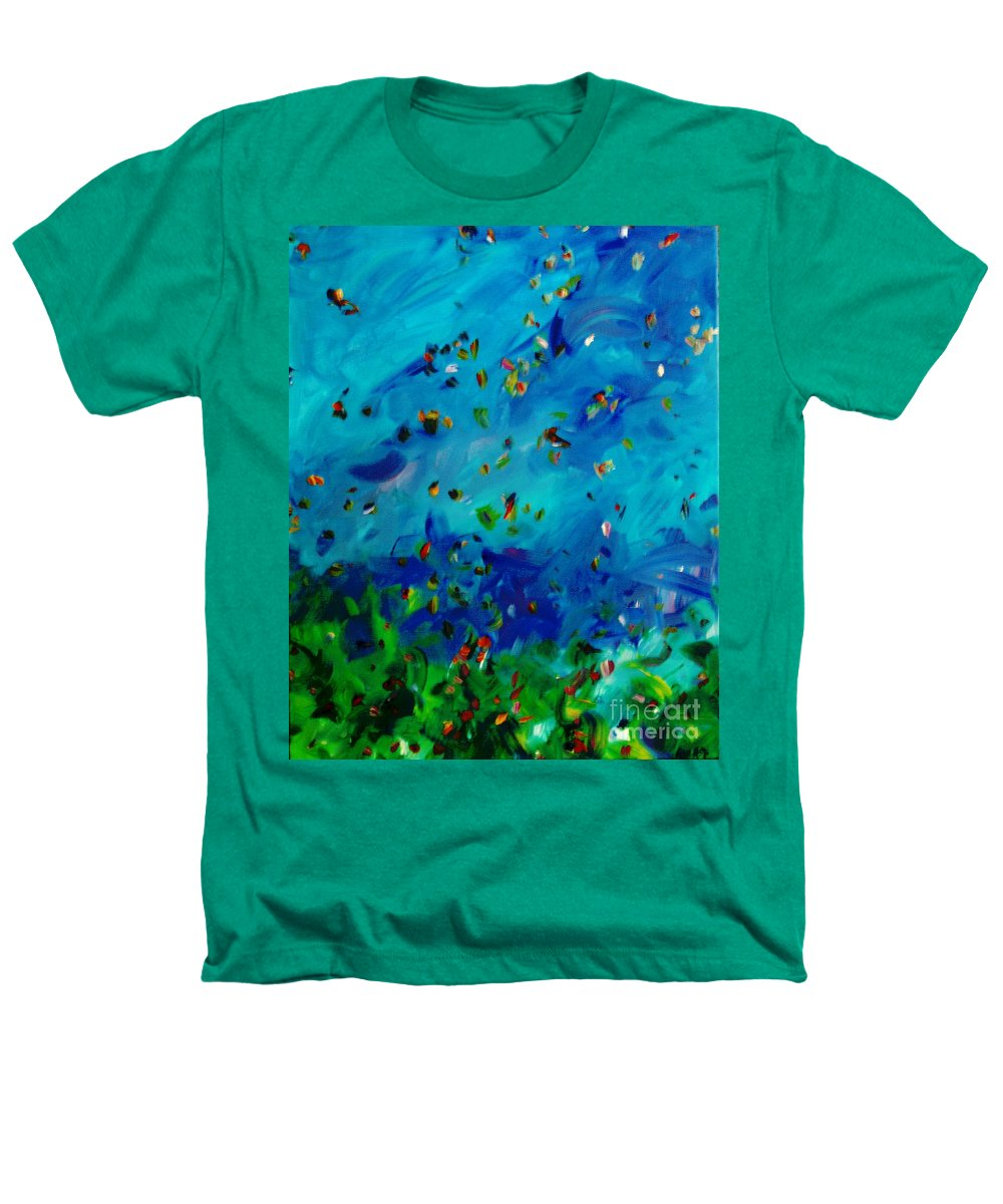 Landscape Heathers T-Shirt featuring the painting Freelancing by Reina Resto