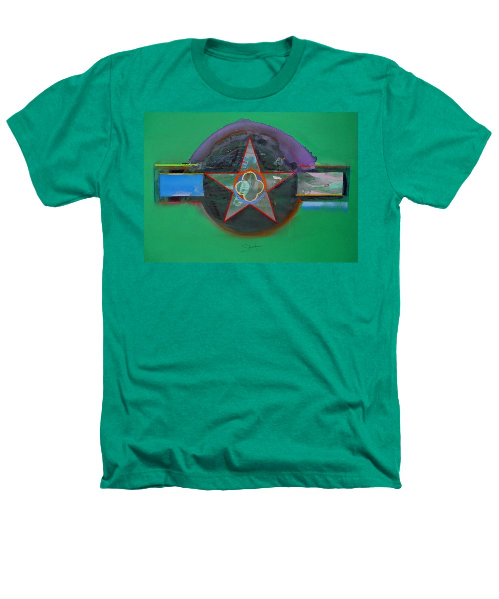 Star Heathers T-Shirt featuring the painting Green And Violet by Charles Stuart
