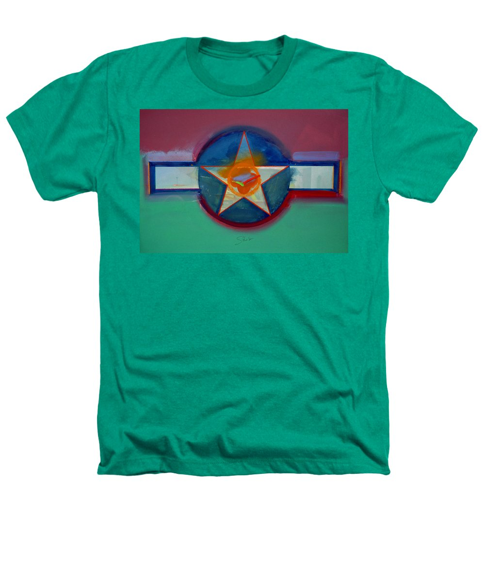 Star Heathers T-Shirt featuring the painting Landscape In The Balance by Charles Stuart