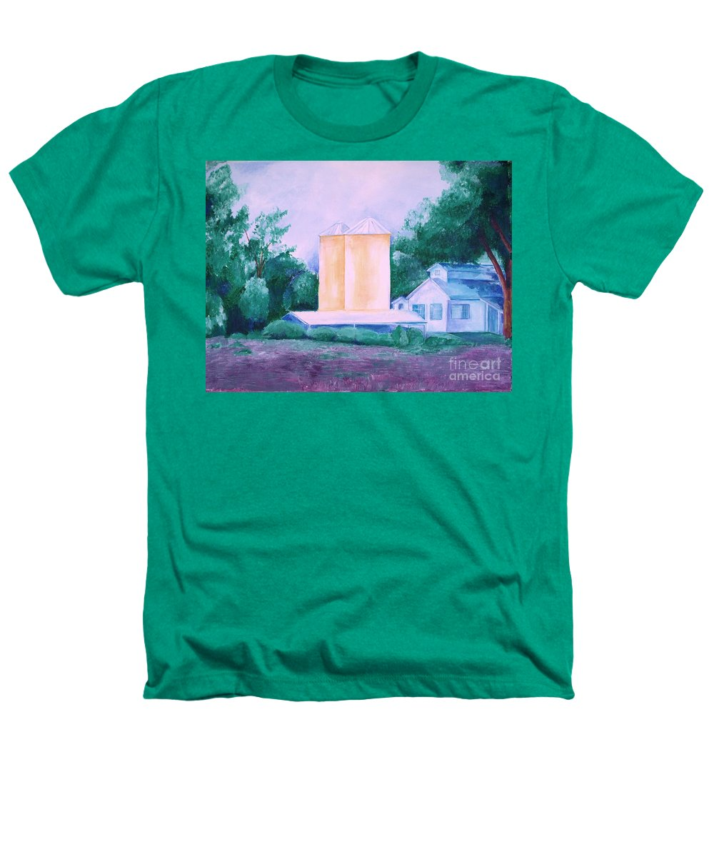 Western Heathers T-Shirt featuring the painting Lavender Farm Albuquerque by Eric Schiabor