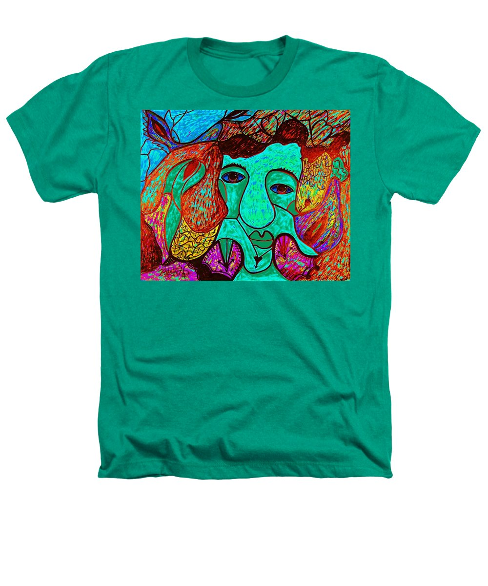 Man Heathers T-Shirt featuring the painting Looking For Love by Natalie Holland
