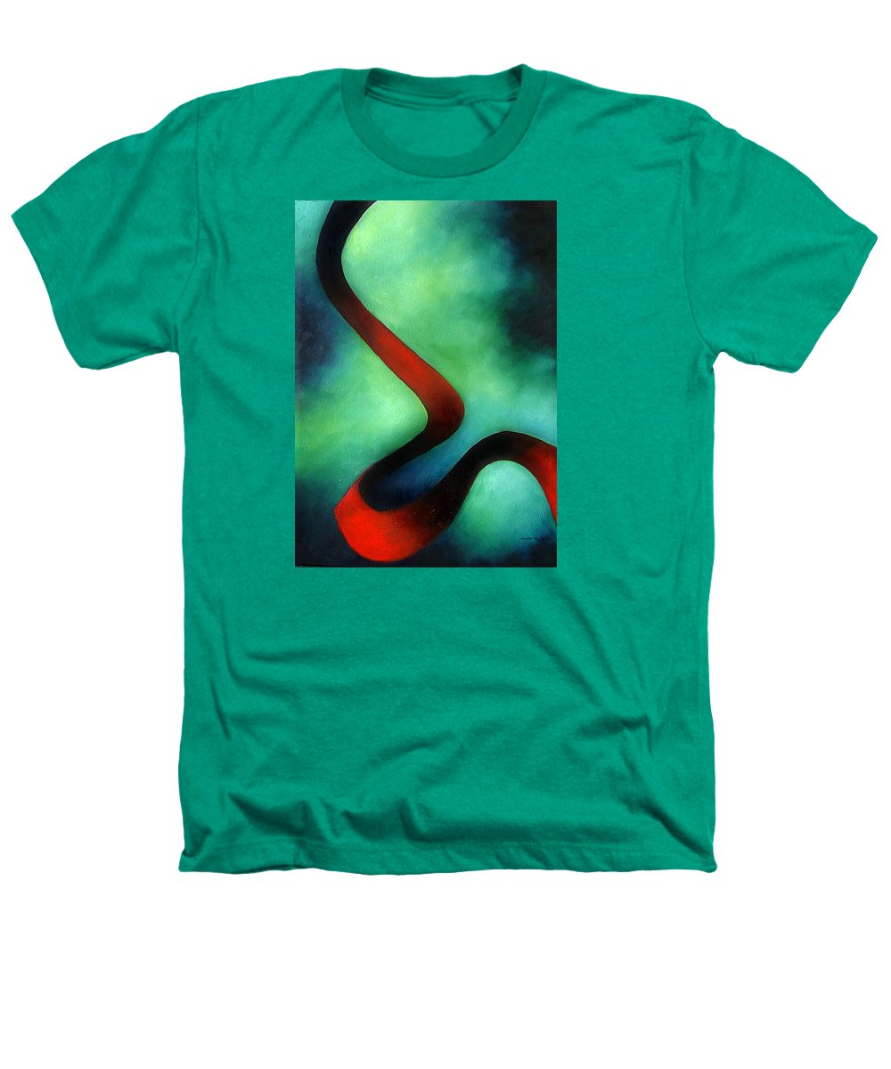 Red Heathers T-Shirt featuring the painting Ribbon Of Time by Elizabeth Lisy Figueroa