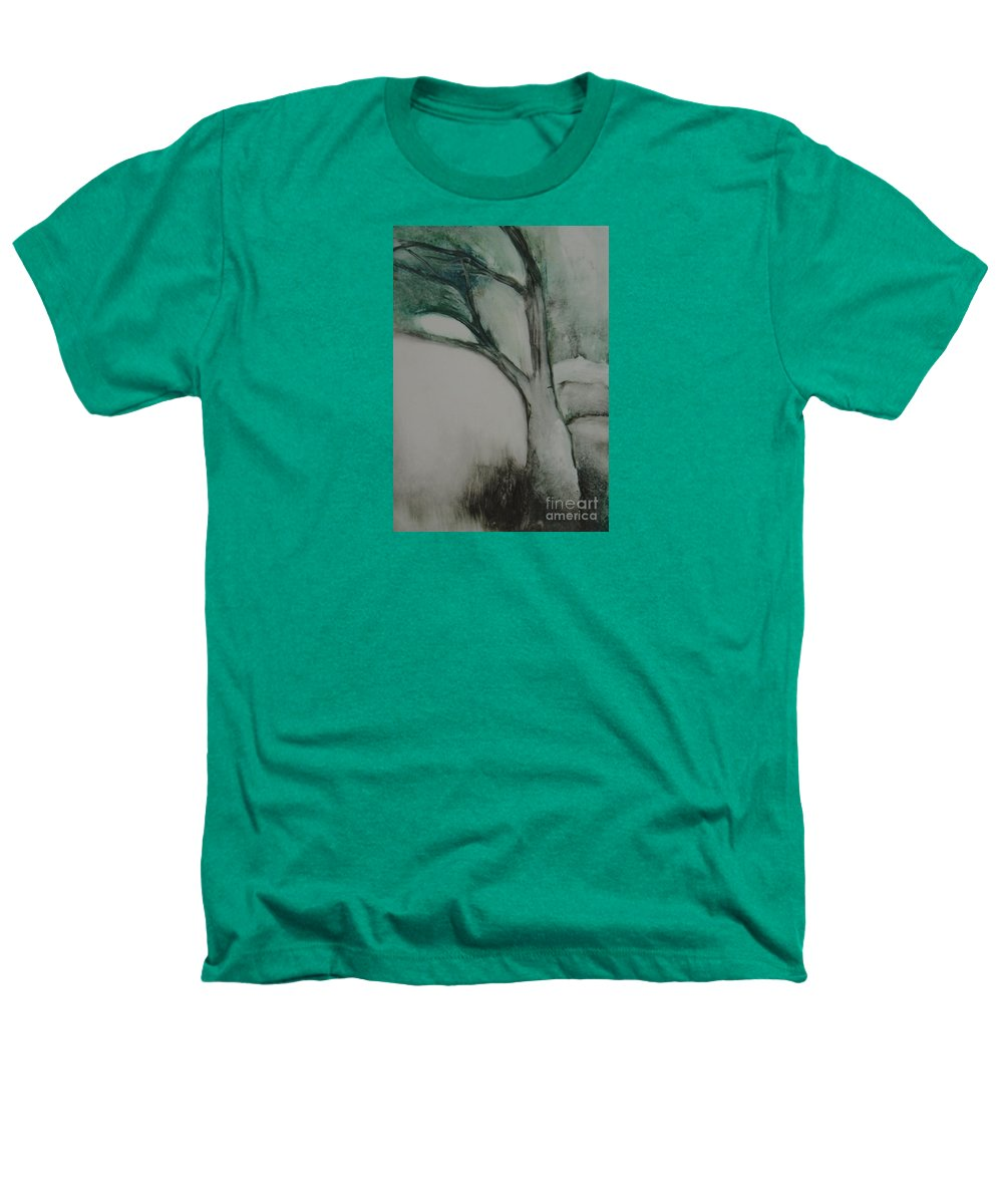 Monoprint Tree Rock Trees Heathers T-Shirt featuring the painting Rock Tree by Leila Atkinson