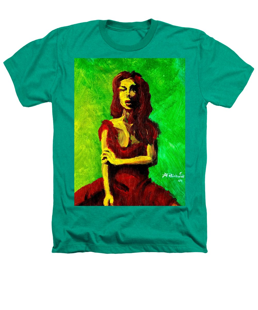 Expressionist Heathers T-Shirt featuring the painting Scarlet by Jason Reinhardt