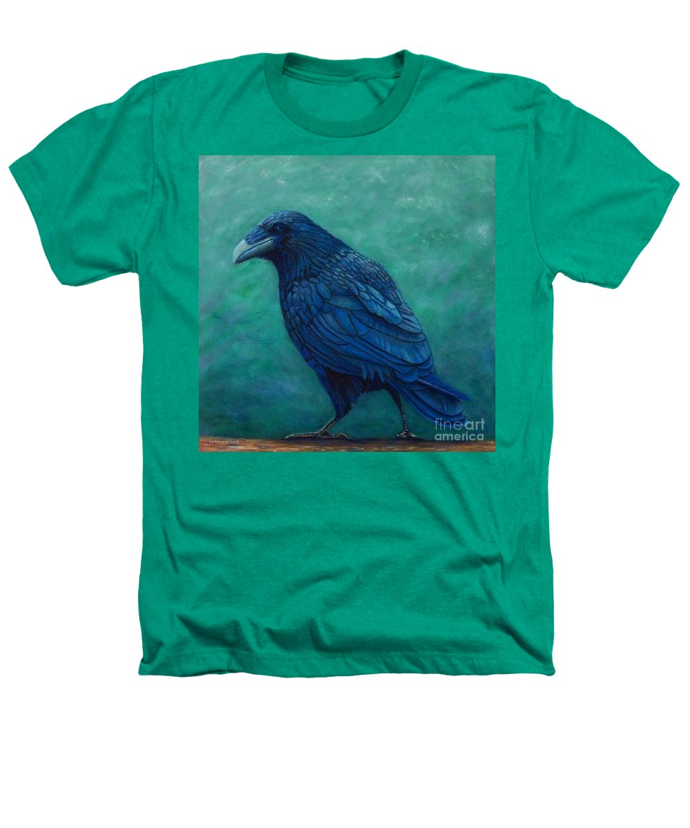 Raven Heathers T-Shirt featuring the painting The Ancient One by Brian Commerford