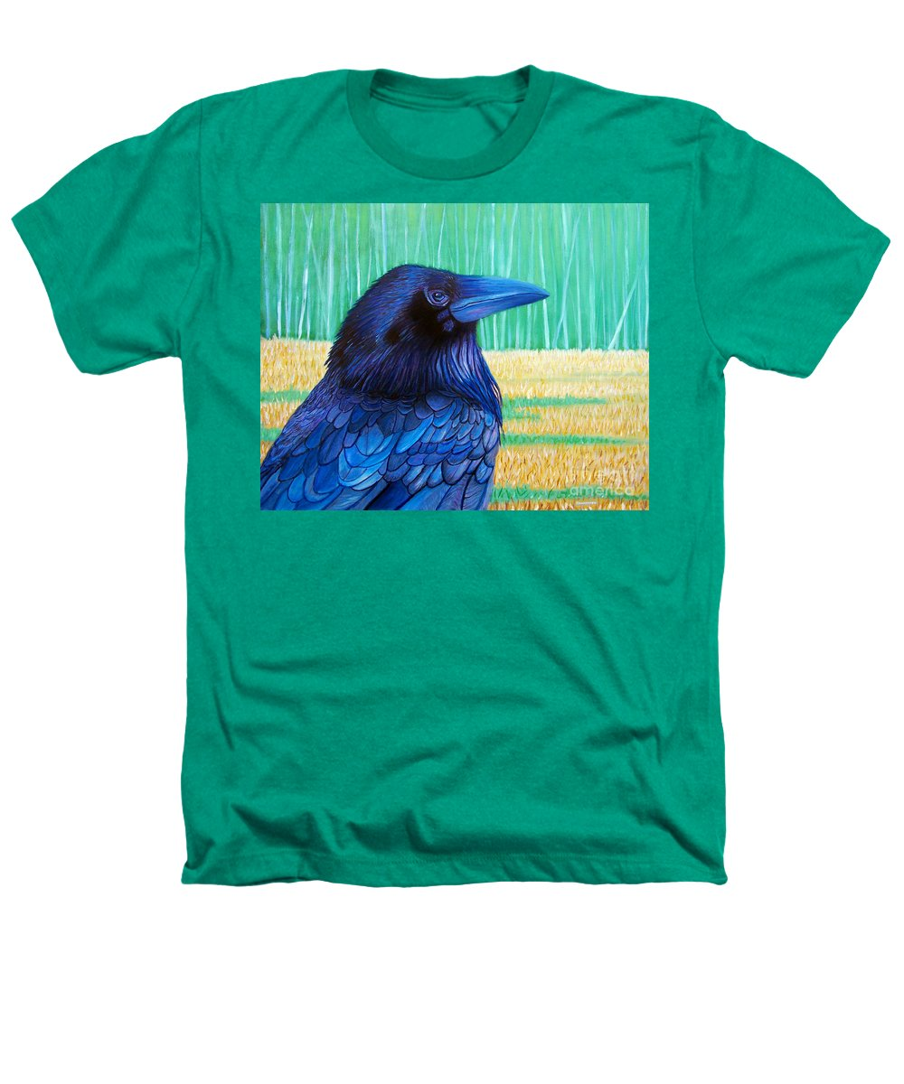 Raven Heathers T-Shirt featuring the painting The Field Of Dreams by Brian Commerford