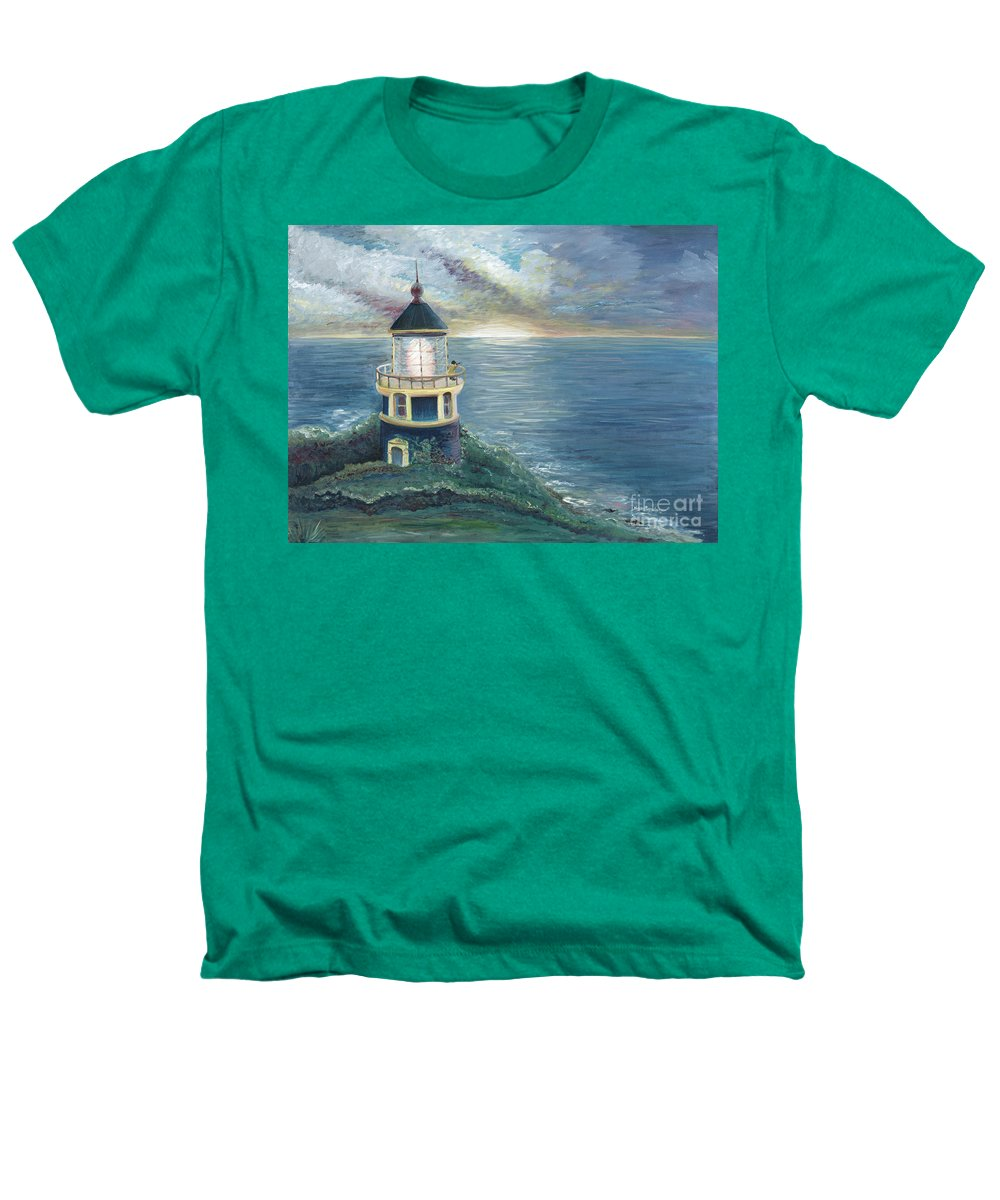 Lighthouse Heathers T-Shirt featuring the painting The Lighthouse by Nadine Rippelmeyer