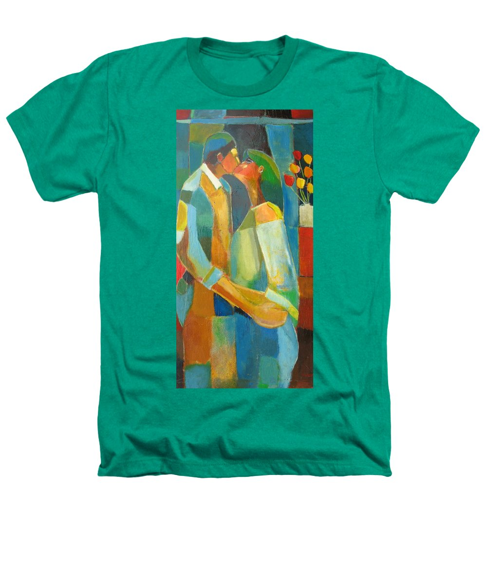 Love Abstract Heathers T-Shirt featuring the painting The Sweet Kiss by Habib Ayat