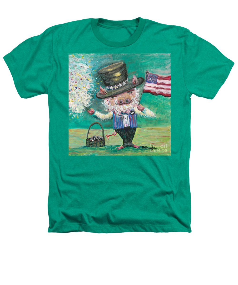Fourth Of July Heathers T-Shirt featuring the painting Uncle Spam by Nadine Rippelmeyer