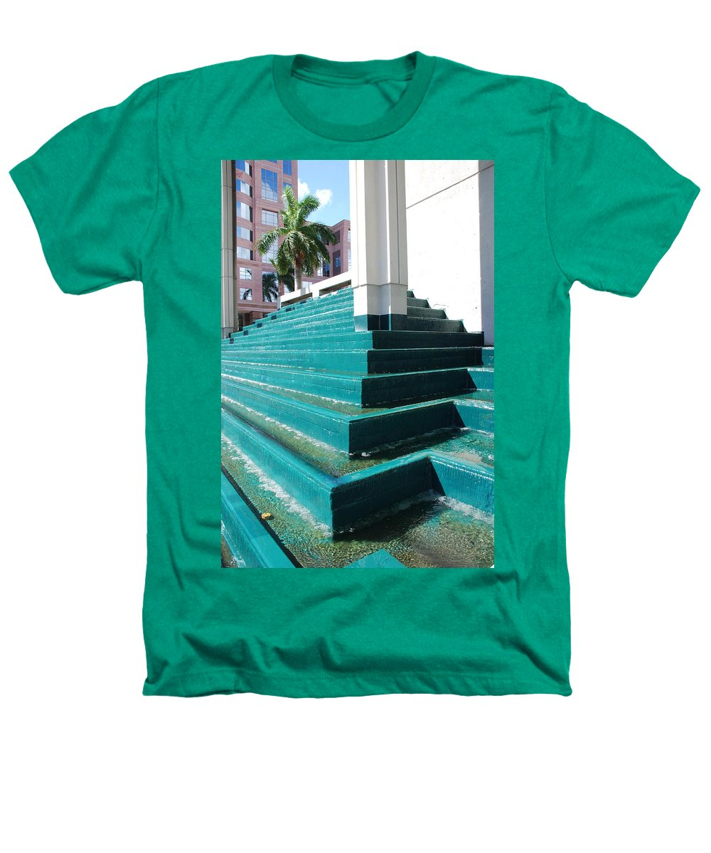 Architecture Heathers T-Shirt featuring the photograph Water At The Federl Courthouse by Rob Hans