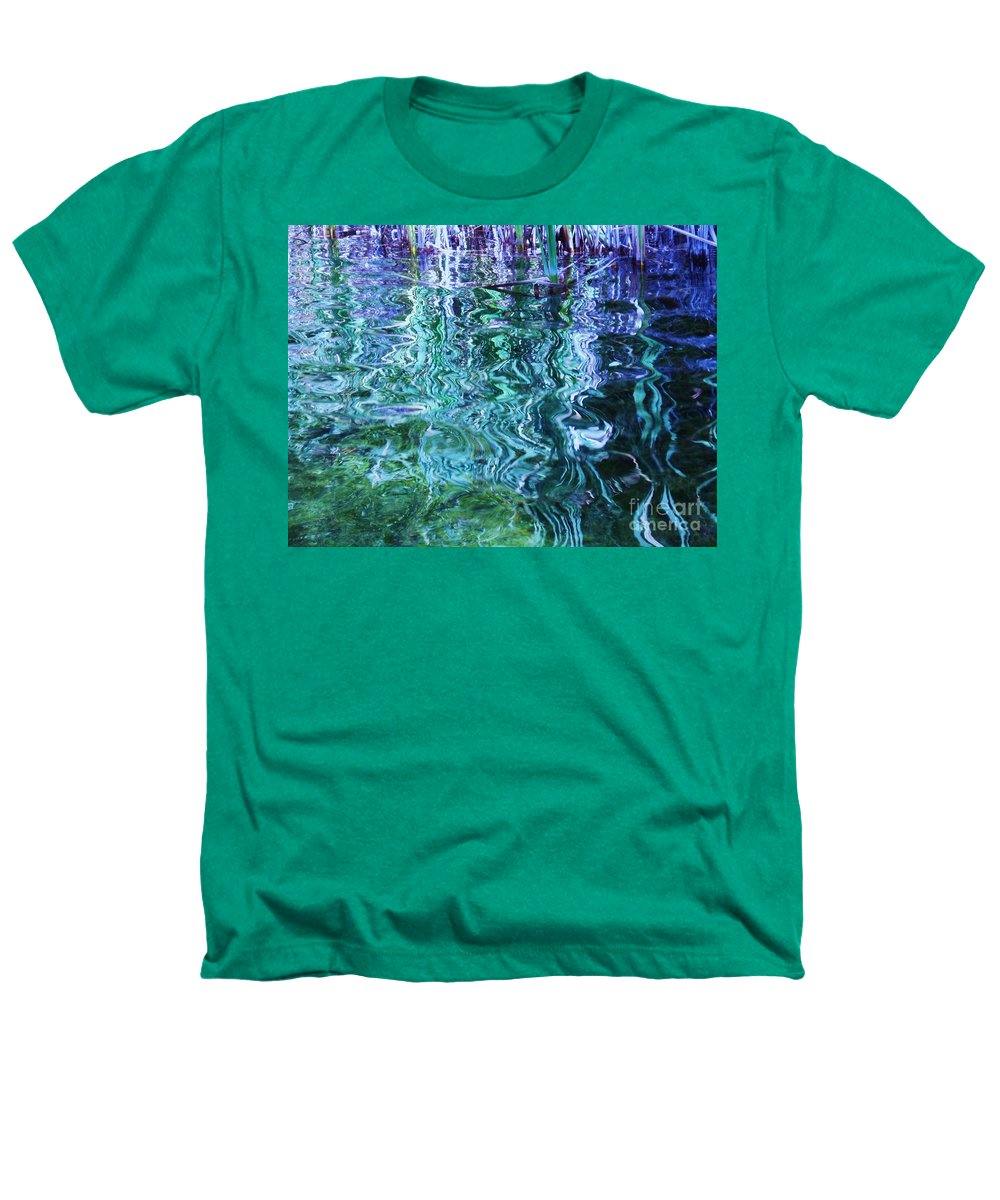 Photograph Blue Green Weed Shadow Lake Water Heathers T-Shirt featuring the photograph Weed Shadows by Seon-Jeong Kim