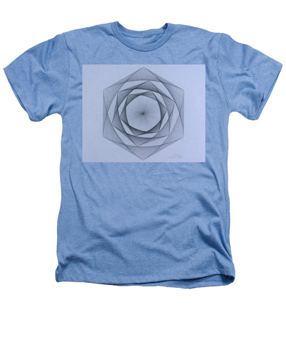 Jason Padgett Heathers T-Shirt featuring the drawing  Energy Spiral by Jason Padgett