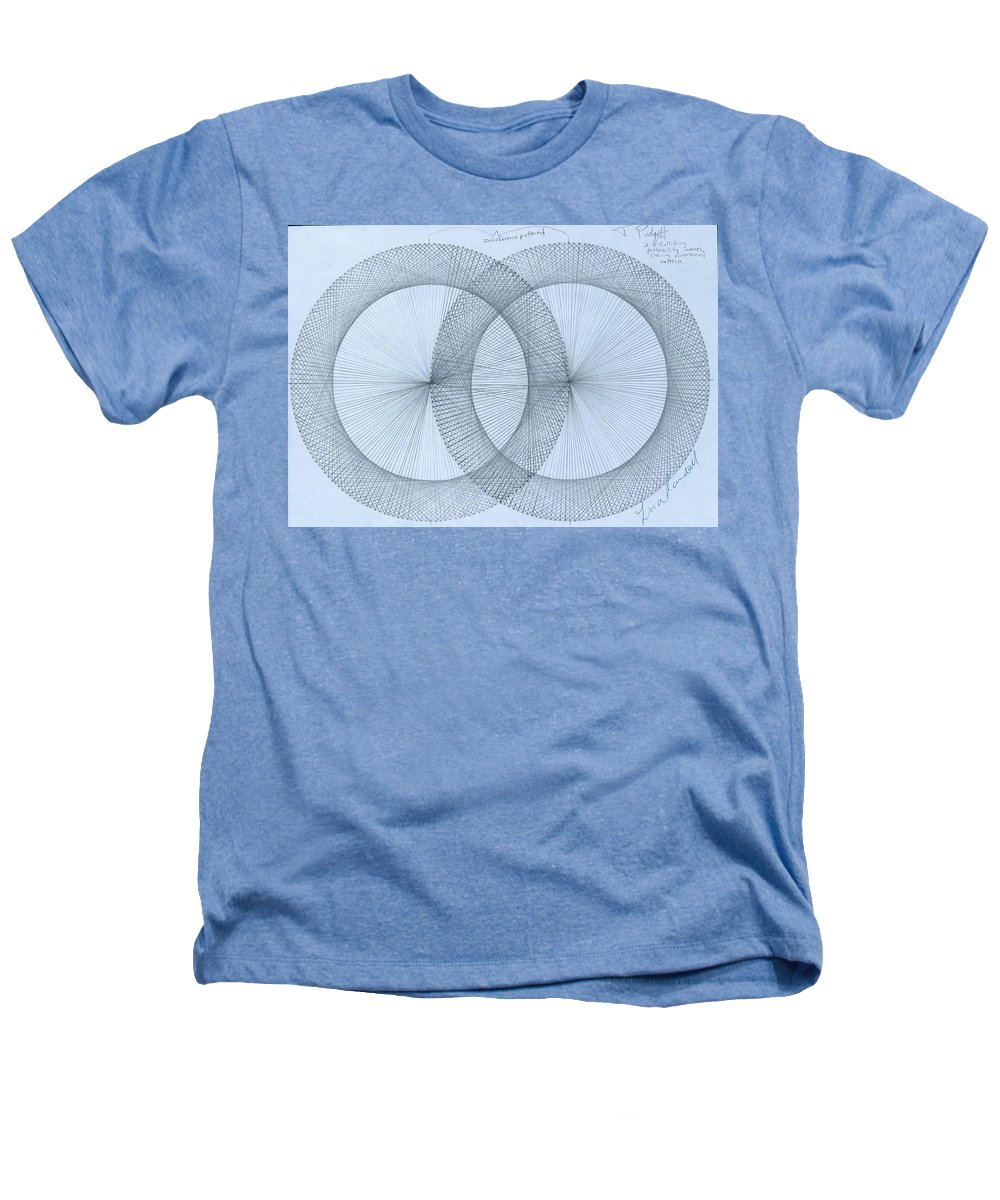 Fractal Heathers T-Shirt featuring the drawing Magnetism by Jason Padgett